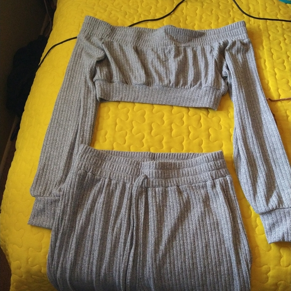 Shein two piece crop top and pants